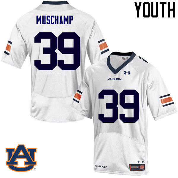 Youth Auburn Tigers #39 Robert Muschamp College Football Jerseys Sale-White